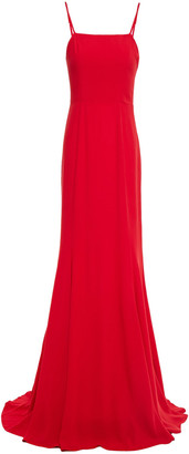 Reformation Dahlia Lace-up Crepe Gown