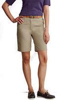 "Lands' End Women's Plus Size 10"" Plain Chino Shorts-True Navy"