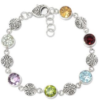 Samuel B. Silver 13.00 Ct. Tw. Gemstone Bracelet