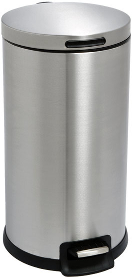 Container Store 7.5 gal. Round Step Can Stainless