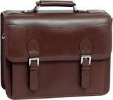 McKlein McKleinUSA Belvedere 15.4 Leather Double Compartment Laptop Briefcase
