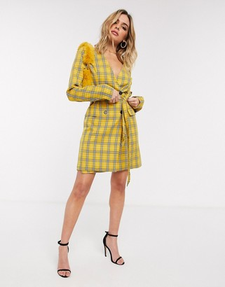 UNIQUE21 blazer dress in check
