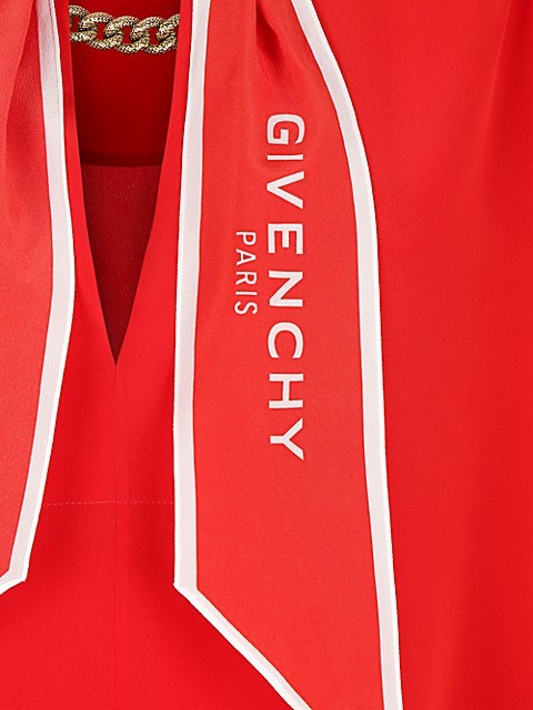 Thumbnail for your product : Givenchy Logo Scarf Crepe de Chine Blouse