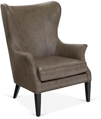 One Kings Lane Tristen Wingback Chair - Cedar Leather