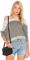 Sundry Reversed Yoke Sweatshirt in Gray. - size 0 / XS (also in 1 / S,2 / M,3 / L)