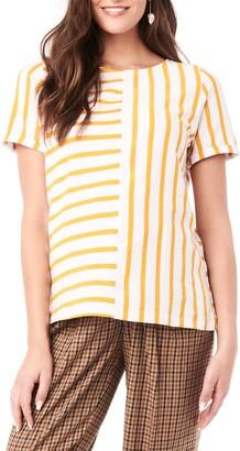 Loyal Hana Ginger Stripe Maternity/Nursing Shirt