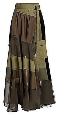 Sacai Women's Combo Utility Maxi Skirt