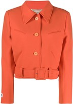 Courreges cropped belted hem jacket