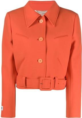 Courreges cropped belted hem jacket