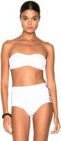 Norma Kamali Bandeau Side X's Bikini Top