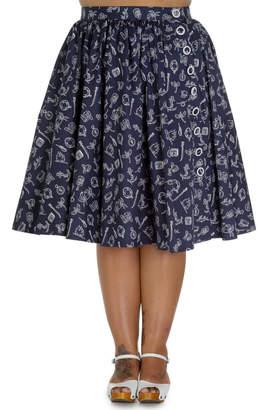 Hell Bunny Marin Nautical Skirt