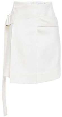 Victoria Beckham Belted Layered Cotton-blend Twill Mini Skirt
