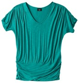 Mossimo Womens Ruched V-Neck Top - Assorted Colors