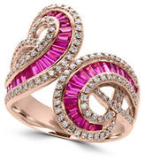 Effy Amore Diamonds, Ruby and 14K Rose Gold Ring