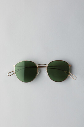 Weekday Explore Rounded Sunglasses - Gold