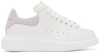 Alexander McQueen SSENSE Exclusive White and Purple Oversized Sneakers
