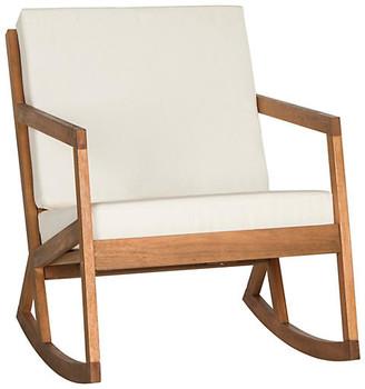 One Kings Lane Lindsey Rocking Chair - White/Natural