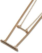 Topman Gold Look Double Bar Multi Row Necklace*