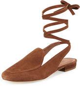 Sigerson Morrison Bena Ankle-Wrap Loafer
