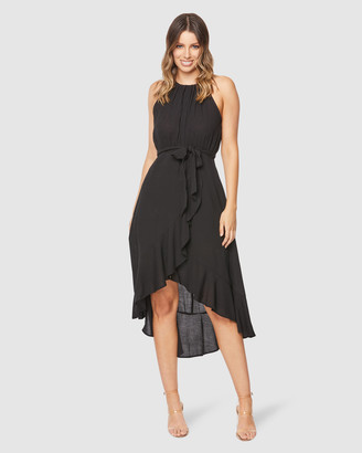 Pilgrim Women's Black Midi Dresses - Jaeger Midi Dress - Size One Size, 6 at The Iconic