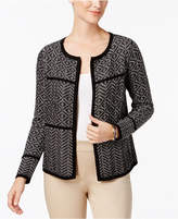 Charter Club Cotton Mixed-Print Open-Front Cardigan, Created for Macy's