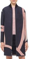Akris Punto Reversible Jacquard Long Coat, Multi
