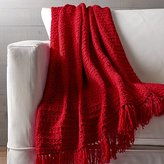Crate & Barrel Bexley Red Throw