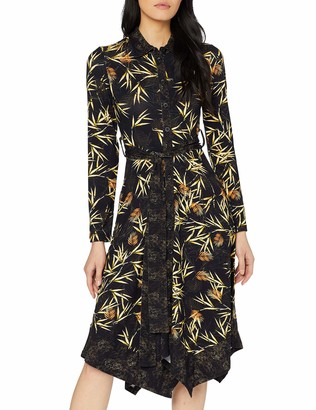 Joe Browns Women's Autumnal Palm Jersey Dress Black (Black/Gold (Size:12)