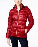 MICHAEL Michael Kors Quilted Packable Down Puffer Coat, Only at Macy's