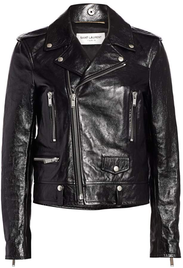 34b9ec679 Classic Leather Moto Jacket