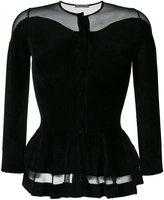 Alexander McQueen knitted peplum top - women - Silk/Polyamide/Polyester/Viscose - XS