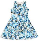 Un Deux Trois Girl's Floral-Print Dress
