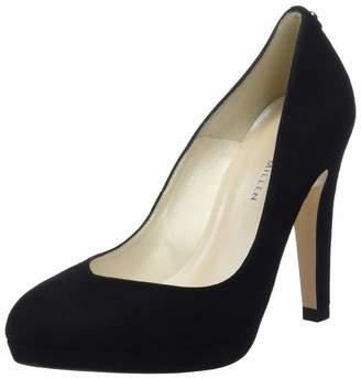 Karen Millen Fashions Limited Women's Suede Platform Pumps Closed Toe Heels