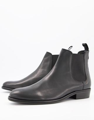 Walk London jackson cuban boots in black leather