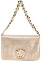 Versace Sulthan crystal shoulder bag - women - Leather/glass - One Size