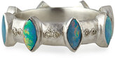 Armenta Boulder Opal & Champagne Diamond Stacking Ring, Size 7