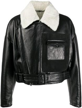 Dolce & Gabbana Contrast-Collar Aviation-Style Jacket