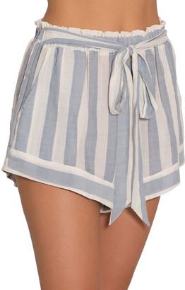 Eberjey Edu Umbrella Stripe Coverup Shorts