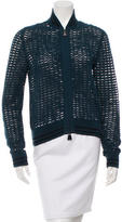 Akris Crochet Bomber Jacket