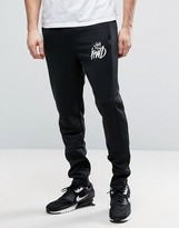 Kings Will Dream Skinny Joggers In Black With Logo