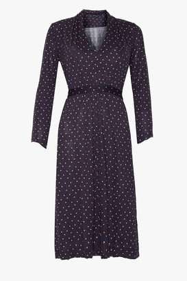 French Connection Fleur Spot Meadow Jersey V Neck Dress