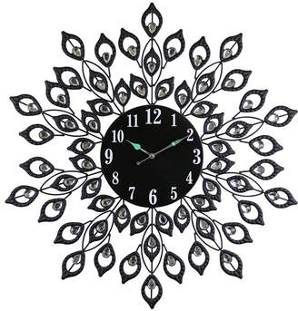 Orient Three Star Round Blooming Leaves Wall Clock