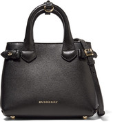 Burberry London Mini Checked Canvas-paneled Textured-leather Shoulder Bag - Black