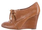 Tory Burch Perforated Lace-Up Booties