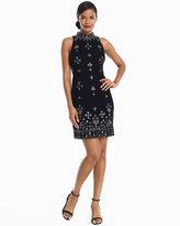 White House Black Market Black Velvet Beaded Dress