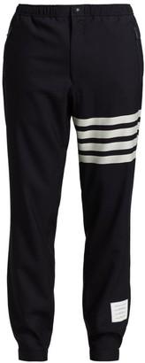 Thom Browne Leg Stripe Wool Joggers