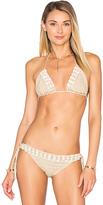 Anna Kosturova Seashore Lace Up Bikini Top