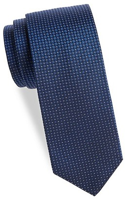 Saks Fifth Avenue Made In Italy Textured Grid Silk Tie
