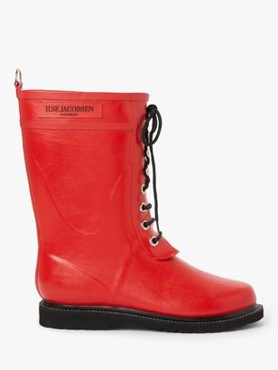 Ilse Jacobsen Hornbæk Hornbk 3/4 Rubber Lace Up Calf Boots