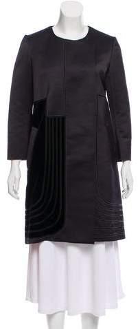 Rue Du Mail Satin Paneled Coat w/ Tags